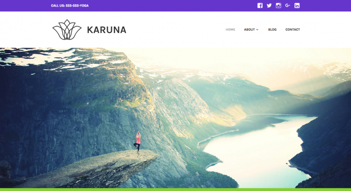 Karuna – Call us 555 555 YOGA