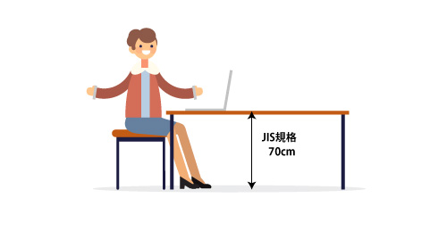 机の高さ 70cm JIS規格